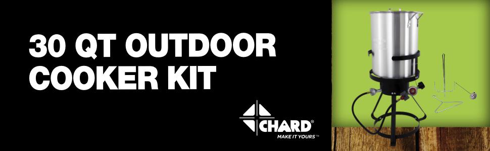30 qt cooker outdoors chard