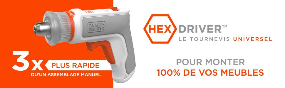 Header – hexdriver 3 x sneller dan een handmatige montage.