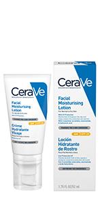 CeraVe; AM; cara; loción; día; crema; mañana; ácido hialurónico; ceramidas; seco; piel; hidratante.