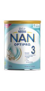 nan optipro 3 crecimiento leche infantil en polvo sin aceite de palma