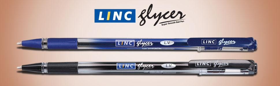 40 Linc SIGNATE Retractable Ball pen BLUE0.7 mm TipSmudge-free writing