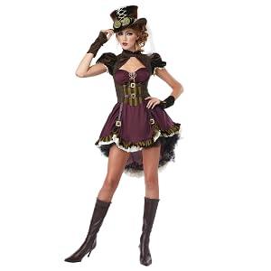 Steampunk, Cyberpunk, Victorian, Halloween, Sci-Fi Costume, Science Fiction, Halloween, Sexy Costume