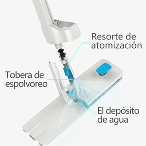 JASHEN Mopa con Pulverizador, Fregona con Limpiar Automático Mopa con 4PCS Paño de Microfibra, 360° Giratoria para Limpia Seca y Húmeda para Suelos ...