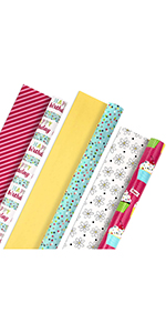 Colorful wrapping paper for women, girls, kids, sisters, aunts, moms, babies, coworkers & daughters