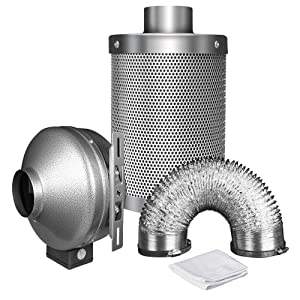 inline booster fan duct carbon filter ducting