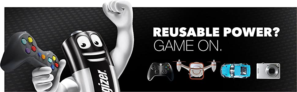 Reusable Power? We're Game. AA/AAA Batteries, Controllers, Drones, Cameras, Recharegable Battery,