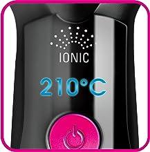 Rowenta Instant Straight CF5712F0 - Moldeador de cabello peine alisador iónico con revestimiento de la placa cerámico y temperatura a 210º