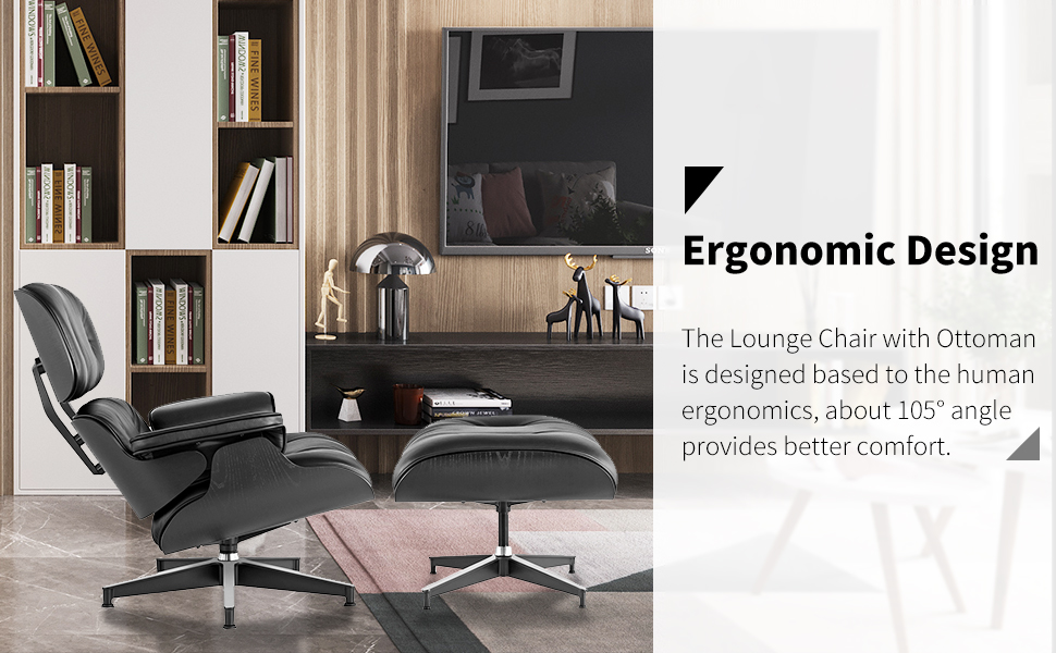 Zitza Lounge Stoel.Amazon Com Mid Century Lounge Chair With Ottoman Modern Chair