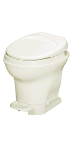 High profile parchment RV toilet