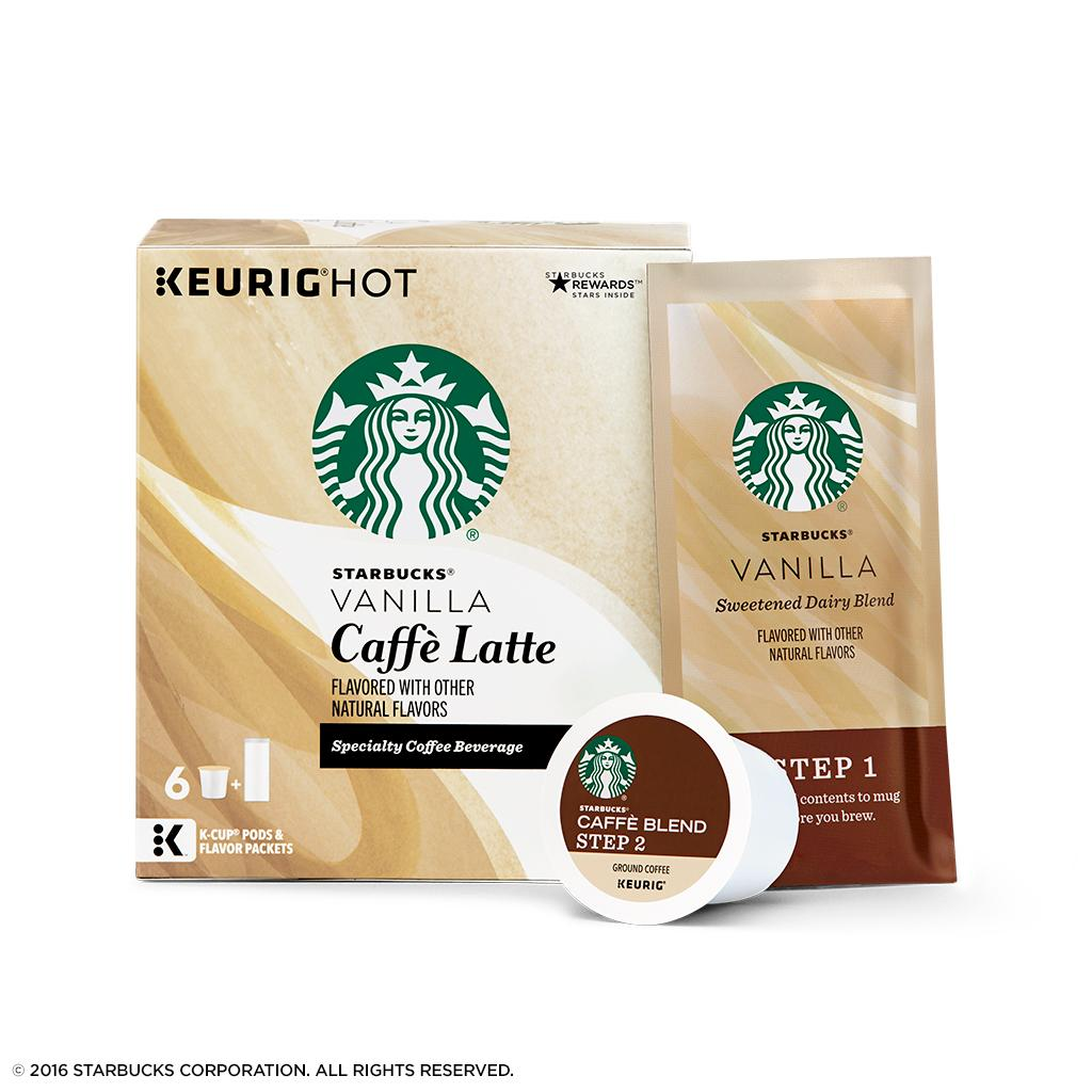 Amazon.com: Starbucks Vanilla Caffè Latte Medium Roast Single Cup ...