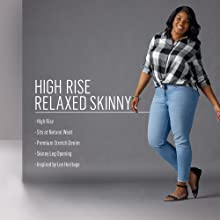 High Rise Relaxed Skinny
