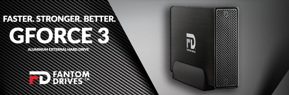Fantom Drives 6TB G-Force3 USB 3.0 eSATA Aluminum External Hard Drive GF3B6000EU