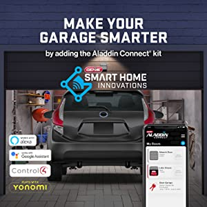 Make your Genie chain drive 750 smarter add the aladdin connect smart home system