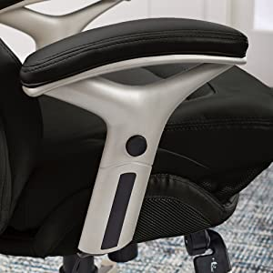 Close up of the padded armrest