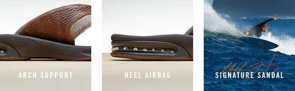 Arch Support, Heel Airbag, Mick Fanning