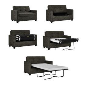 new product 7f046 aef41 Signature Sleep Devon Sleeper Sofa with Memory Foam Mattress, Gray, Twin