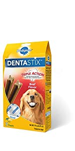 DentaStix, Beef, Dog, Treats, Oral Care, Treats, Reduces Tartar and plaque, freshens breath