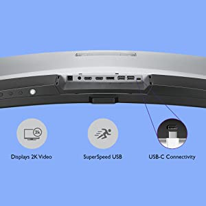 USB-C monitor, USB-C connectivity, USB-C monitor port, SuperSpeed USB monitor, 2K monitor
