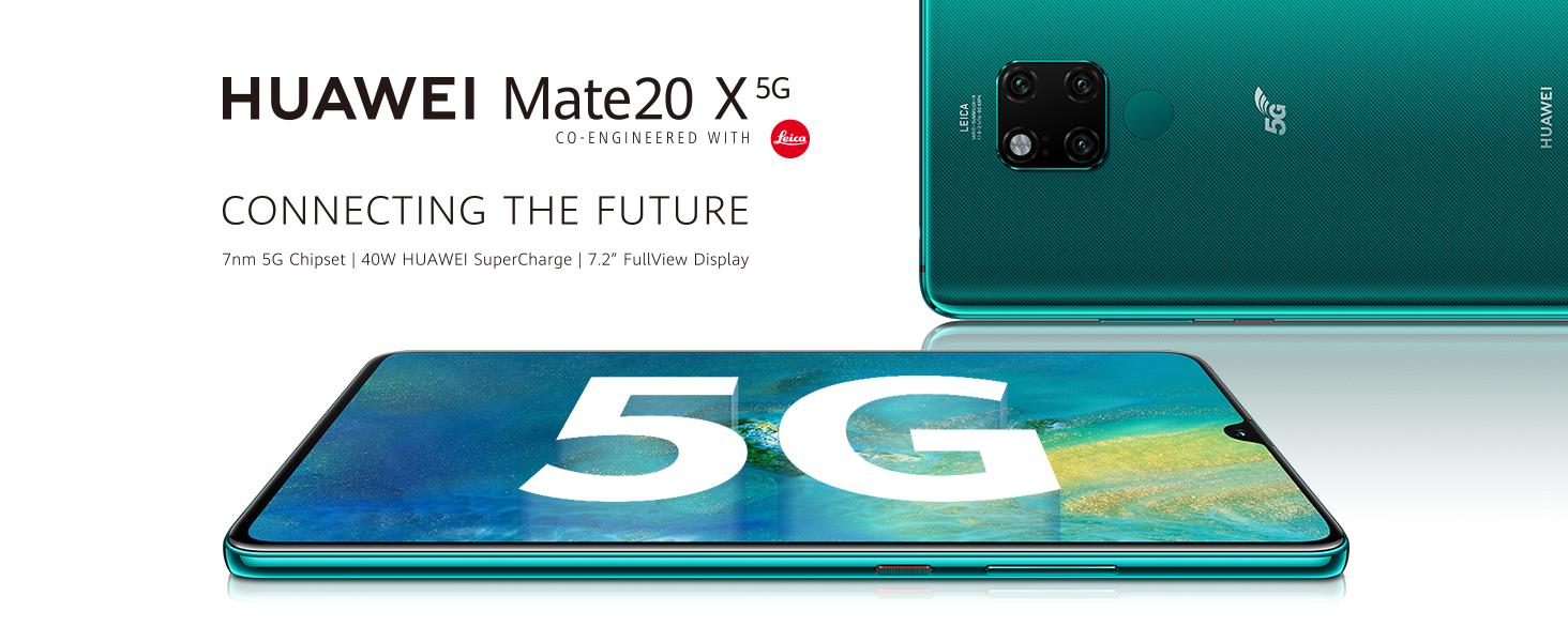 Huawei Mate 20 X, Smartphone 5G (RAM de 8 GB, Memoria Interna de 256 GB, Triple cámara 40MP+8MP+20MP, 4200 mAh)
