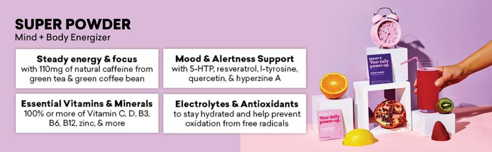Eboost Vitamin and Antioxidant Energy Super Powder (20 Count) (Orange)