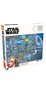 Seek amp; Find - The Death Star - 300 Large Piece Jigsaw Puzzle