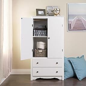 Armoire, 2 door armoire, storage, bedroom storage, dresser