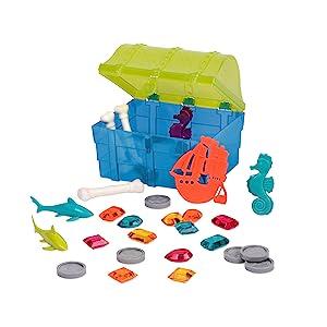 green pool water summer beach bath tub toy toddler kid melissa doug outdoor boy pirate box toy game
