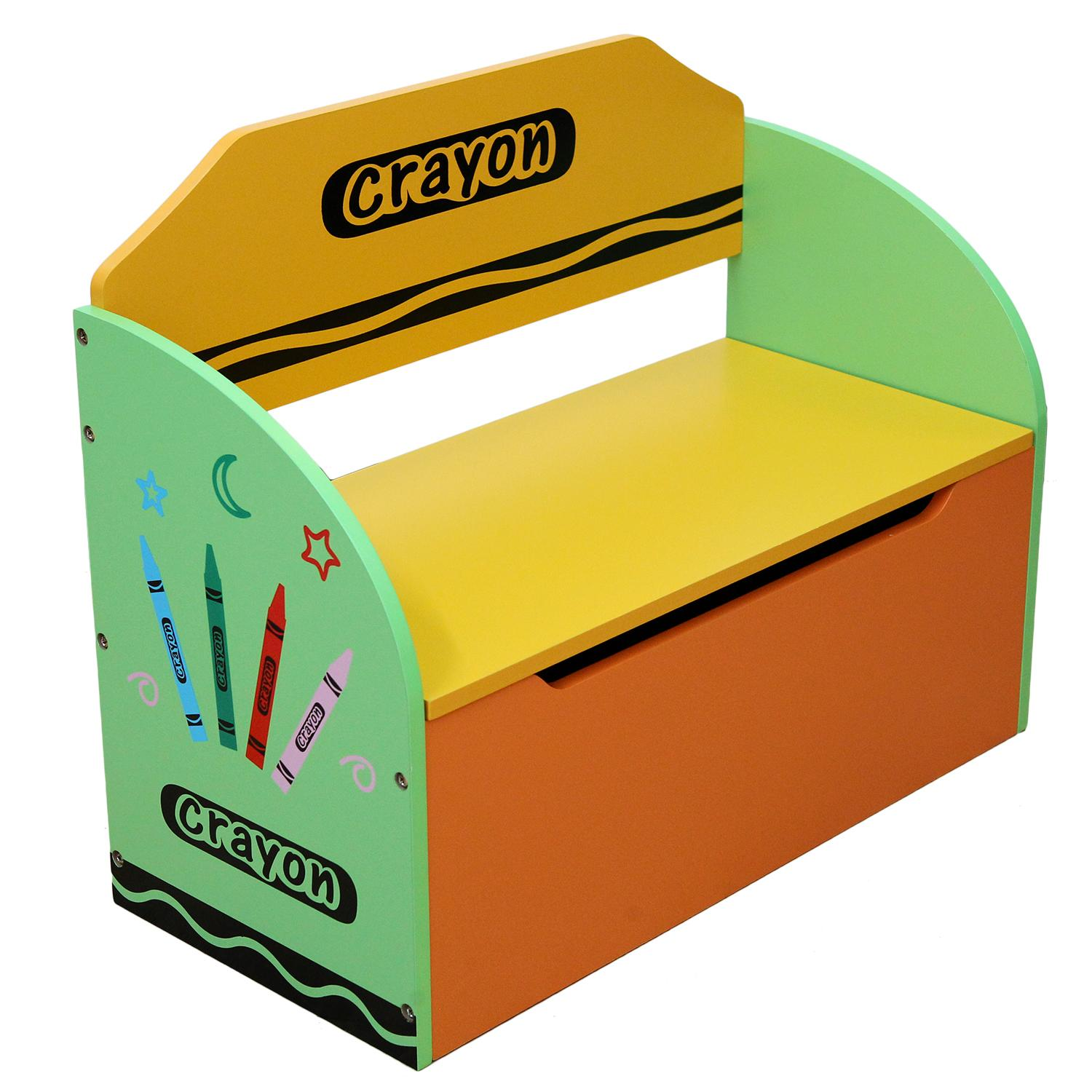 Kiddi Style Childrens Wooden Toy Storage Box and Bench ...