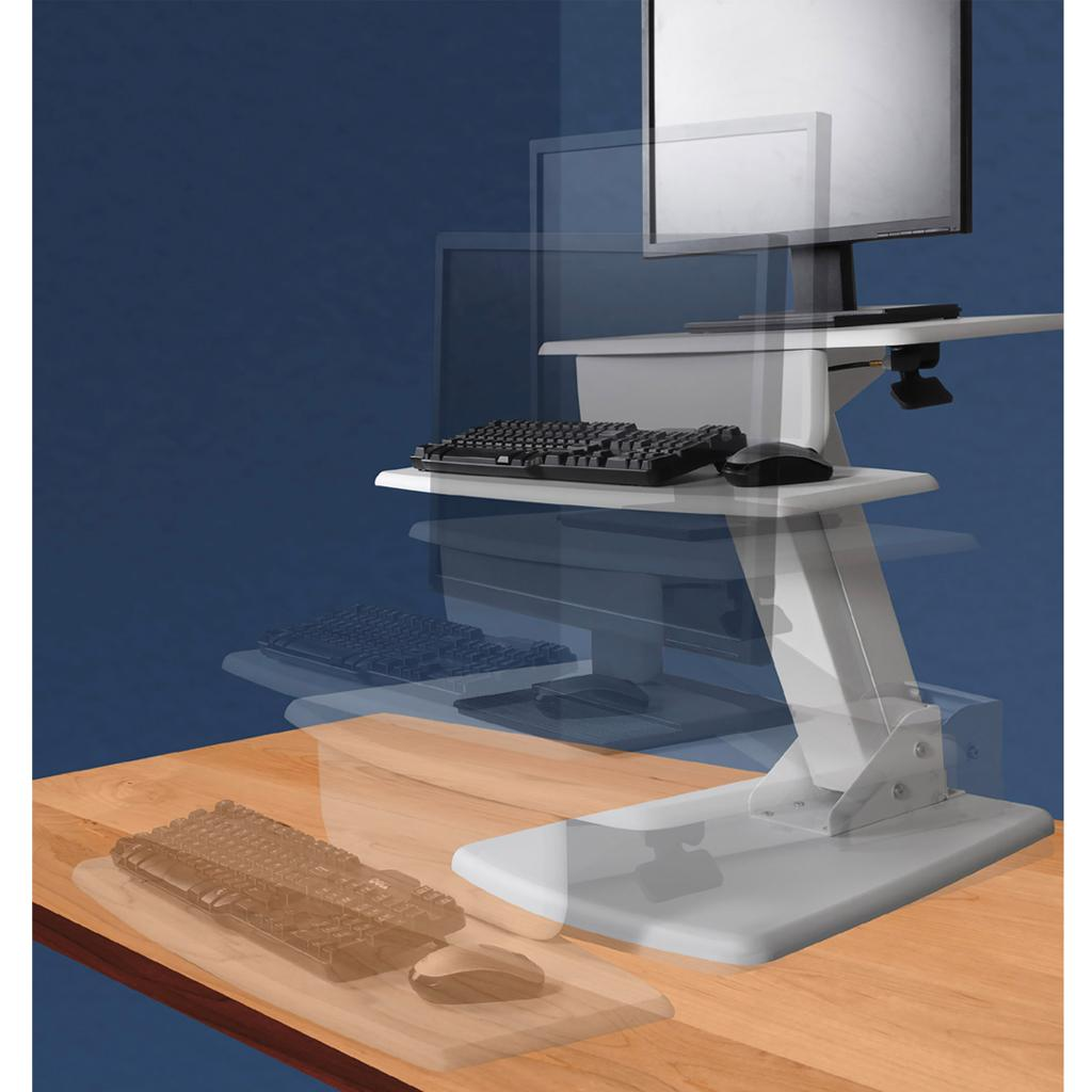 Kantek Desk Mounted Sit To Stand Workstation Sts800
