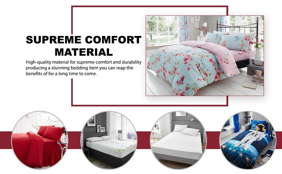 Drap-housse en polycoton facile d'entretien uni uni pour lit simple, double, king size et élastique