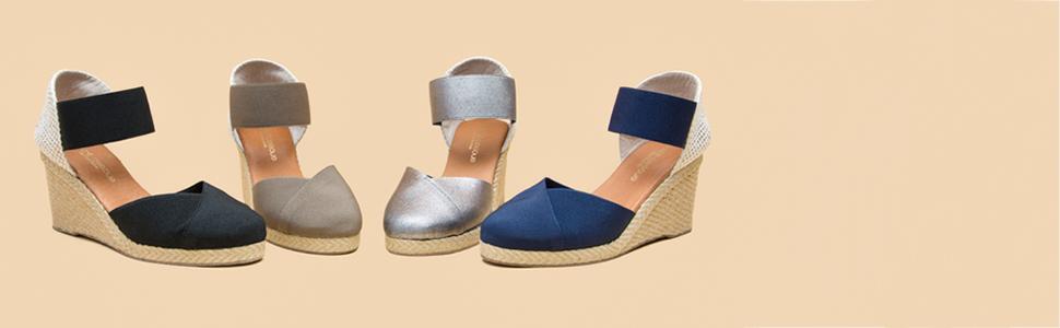 62829c64d38 Amazon.com  André Assous Women s Anouka Espadrille Wedge Sandal  Shoes