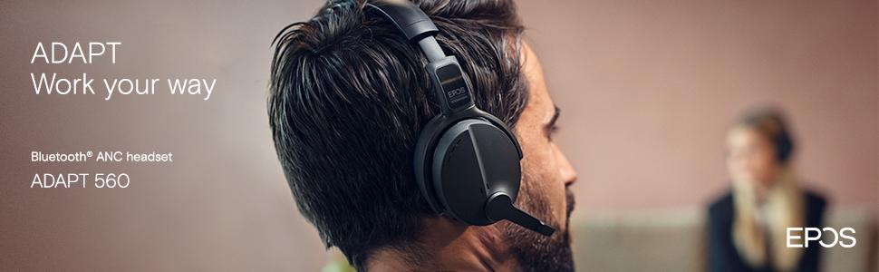 EPOS SENNHEISER ADAPT 560 Wireless Bluetooth ANC Headset Teams Certified