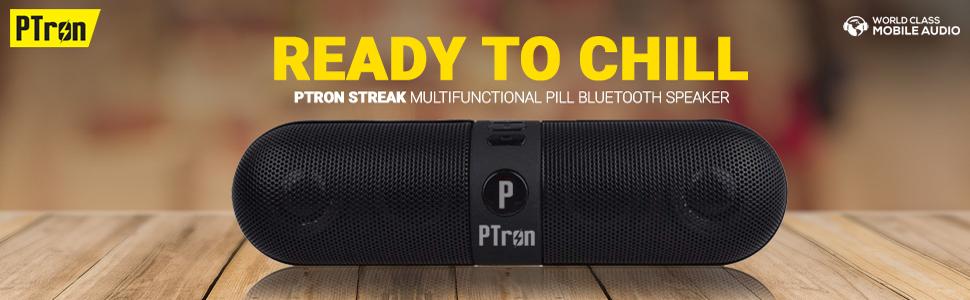 PTron Streak Multifunctional Metal Pill Wireless Bluetooth Speaker