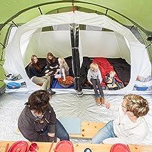 skandika Gotland 6 - Tienda de campaña Familiar - mosquiteras - Suelo Cosido en Forma de bañera - túnel