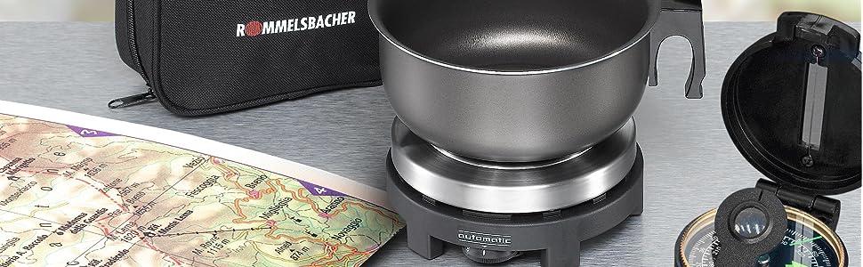 ROMMELSBACHER elektrische Reisekochplatte RK 501 RK 501/S RK 501/SU Made in Germany