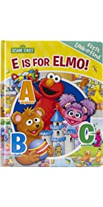 Sesame Street - E is for Elmo! ABCs - My First Look and Find Activity Book