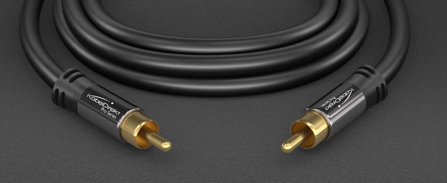 Kabeldirekt Cinch Subwoofer Kabel 1 5m Elektronik