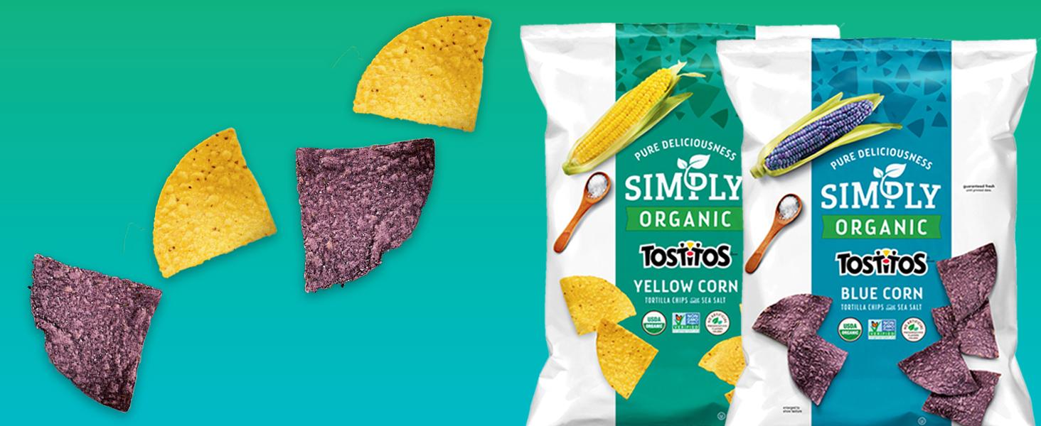 simply organic tostitos tortilla chip snacks