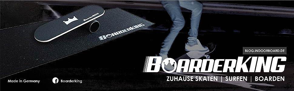 Trend-Welt BoarderKING Tabla de Skateboard para Interior y Surf