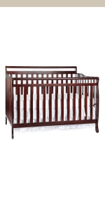 dream on me, cribs, full size, standard, 5 in 1 convertible, toddler bed, day bed, liberty