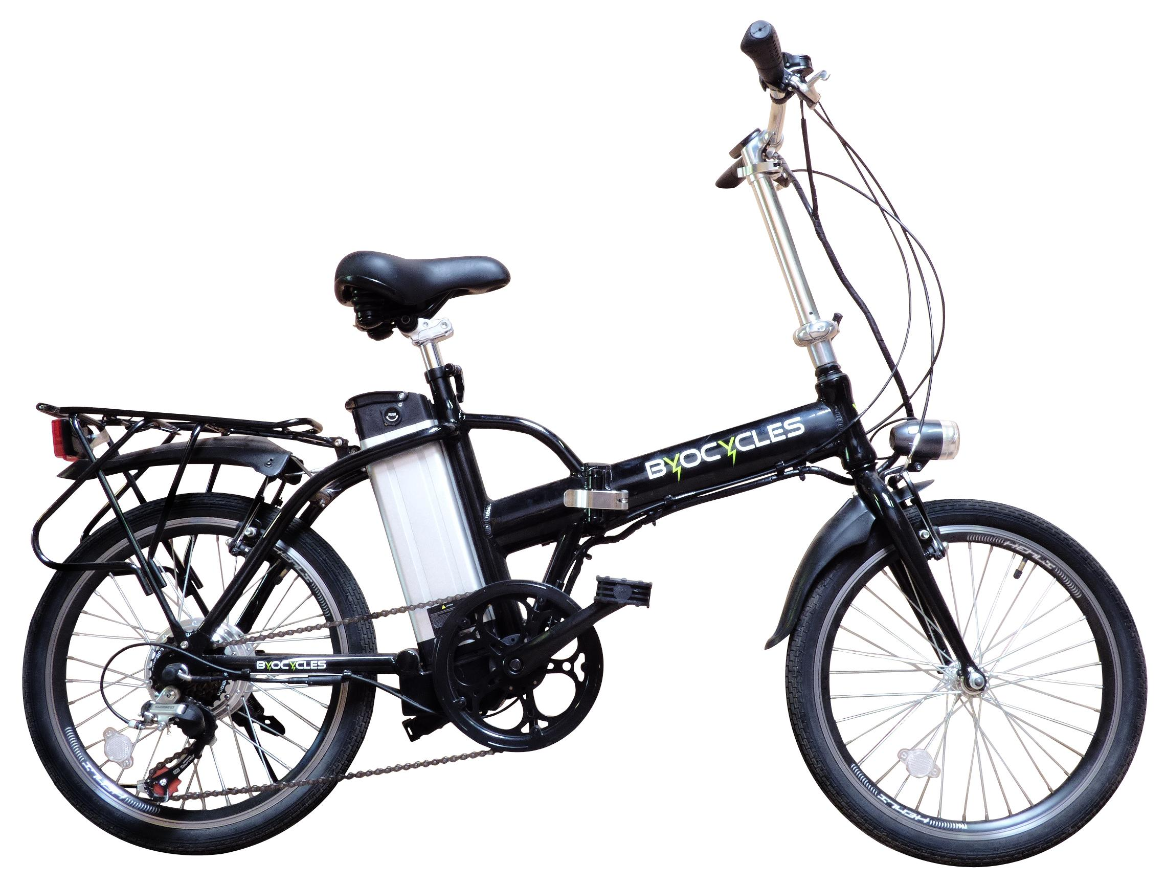byocycle city speed 6 speed folding electric bike bicycle. Black Bedroom Furniture Sets. Home Design Ideas