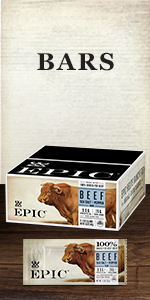 EPIC grass fed meat snack bar boxes