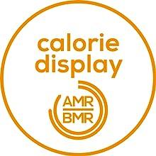 Indicador de calorías AMR y BMR