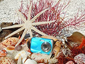 Eisblaue W1024 Unterwasserkamera am Strand