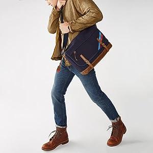 Backpack, leather bag, men's bag, briefcase, work bag, rucksack, messenger bag