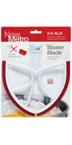 New Metro Design Ka 6l Beater Blade For Kitchenaid 6 Quart
