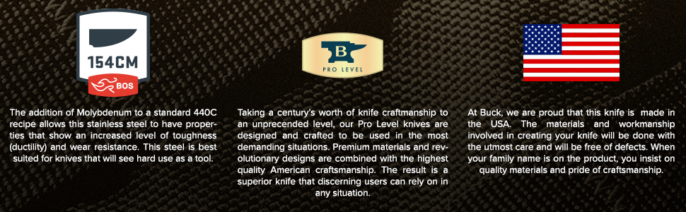 Buck Knives 616 Buck OPS Boot Knife Features 154CM Steel Pro Level Quality Proudly Made in USA