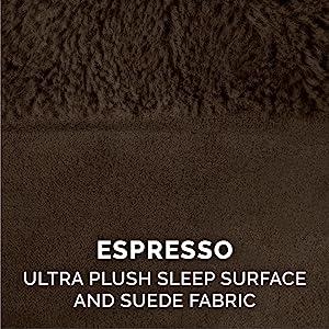 sleep; surface; plush; faux fur; suede; espresso; brown; chocolate; mud; coffee
