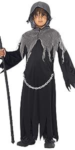 Smiffys Disfraz de niño del día de Muertos, Negro, con ...
