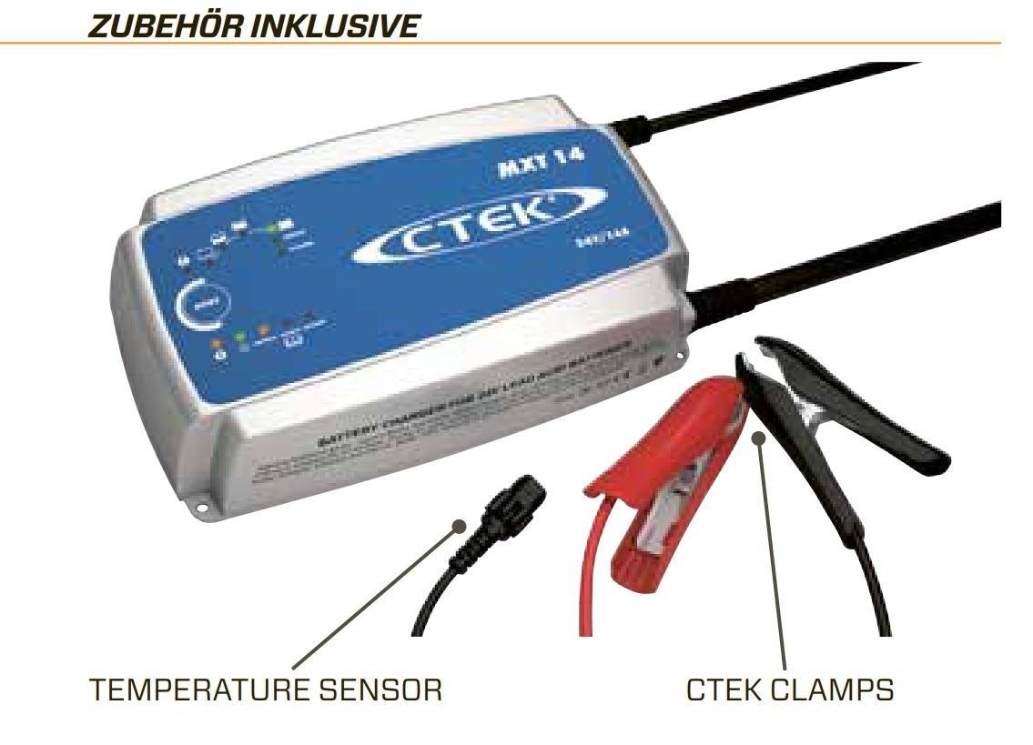 ctek mxt 14 multi funktions batterieladeger t mit 8 stufen. Black Bedroom Furniture Sets. Home Design Ideas